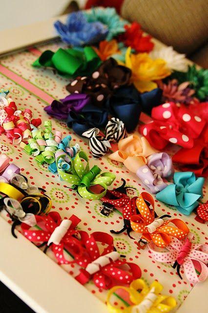 DIY baby hair bow organizer.