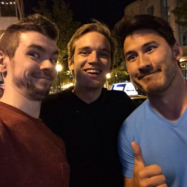 Sean McLoughlin (JackSepticEye), Felix Kjellberg (PewDiePie), Mark Fishbach (Markiplier)