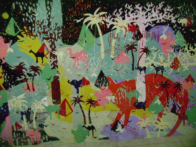 pintura  esmalte sintetico sobre madera  185 x 130