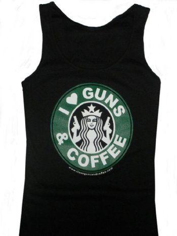"""""""""""I Love Guns & Coffee"""" Women's Tank Top - Sizes M-XL"""
