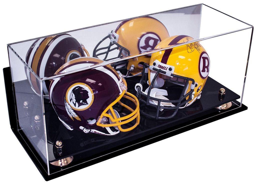Collectible double mini football nfl helmet mini goalie