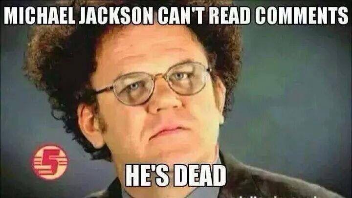 Funny Meme Facebook Comments : He's dead. michael jackson popcorn comments pinterest memes