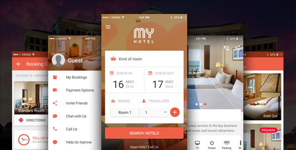My Hotel Ionic Theme Ionic Template For Mobile Booking