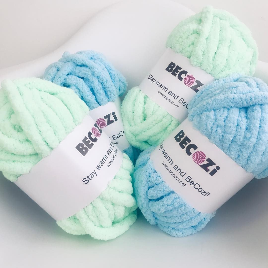Chunky chenille yarn aka bernat blanket yarn or yarn bee