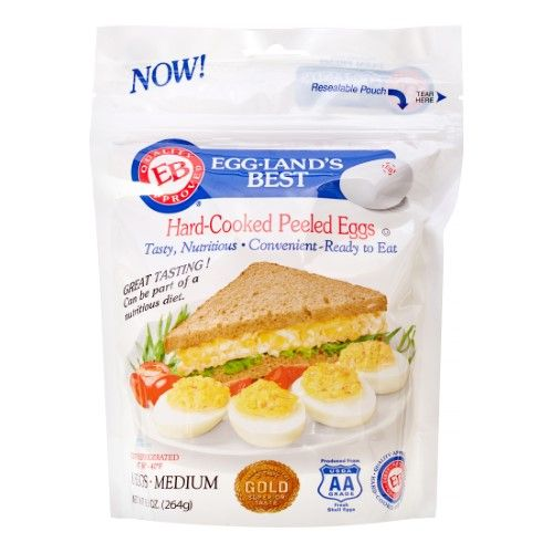 Eggland's Best Hard-Cooked Peeled Eggs, 0.5 Dz