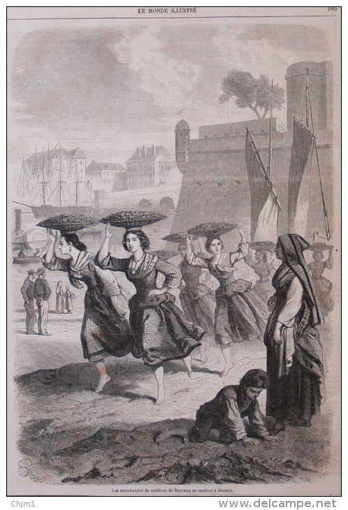 les marchandes de sardines de Bayonne se rendant à Biarritz - page original 1862