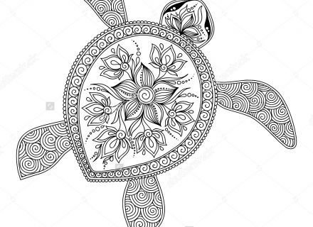 Image result for coloring pages animals for adults turtle