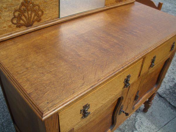 Nice smaller sized Antique oak buffet Mint! - $250 (seattle) - Nice Smaller Sized Antique Oak Buffet Mint! - $250 (seattle