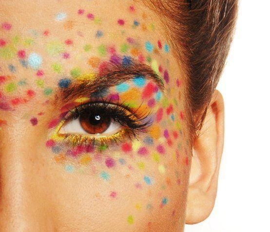 confetti makeup Clown Makeup Pretty confetti Makeup