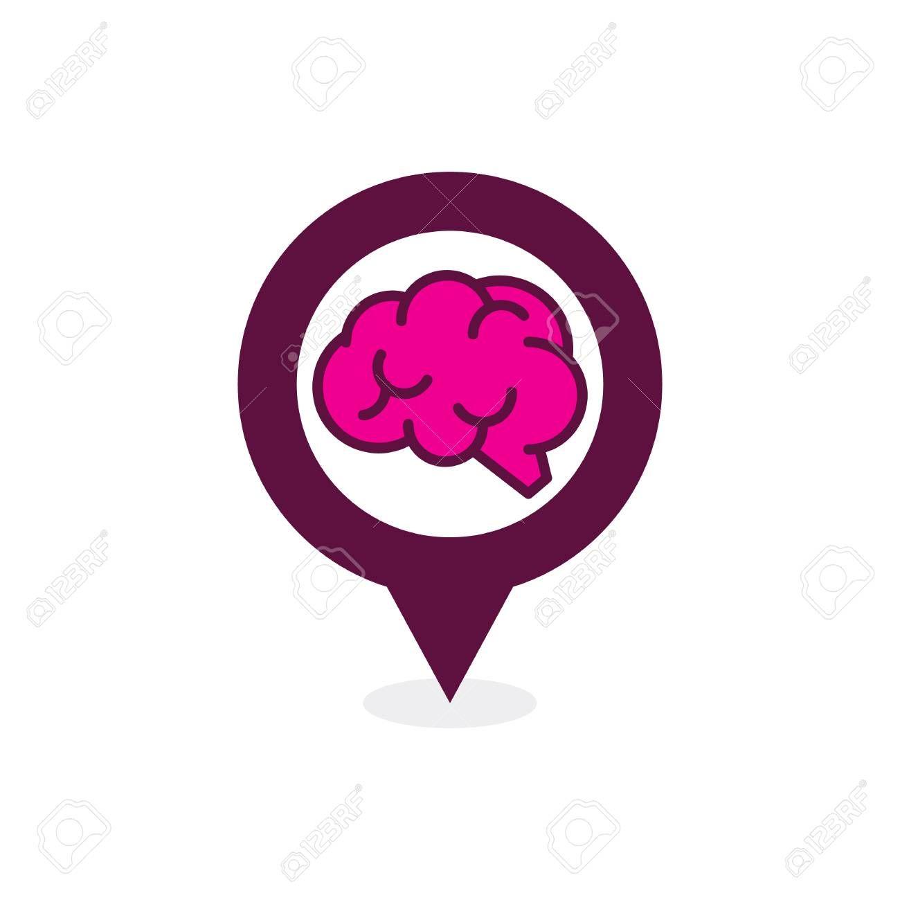 Brain Point Logo Icon Design
