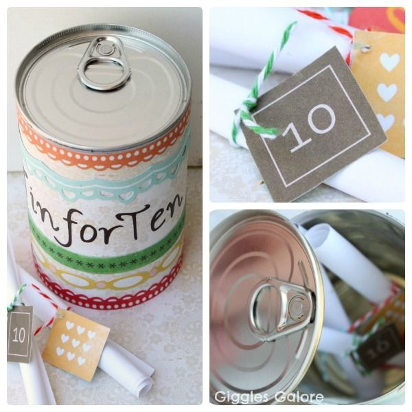Tin For Ten A Diy 10th Anniversary Gift Idea 10th Anniversary Gifts Tin Anniversary Gifts 10 Year Wedding Anniversary Gift