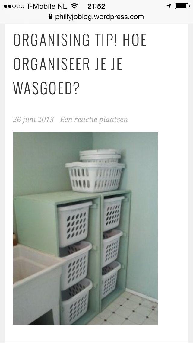 Wasmanden kast | Waskamer | Pinterest