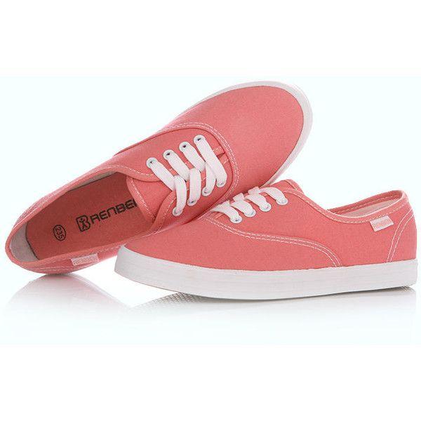 Renben Plain Canvas Sneakers | White