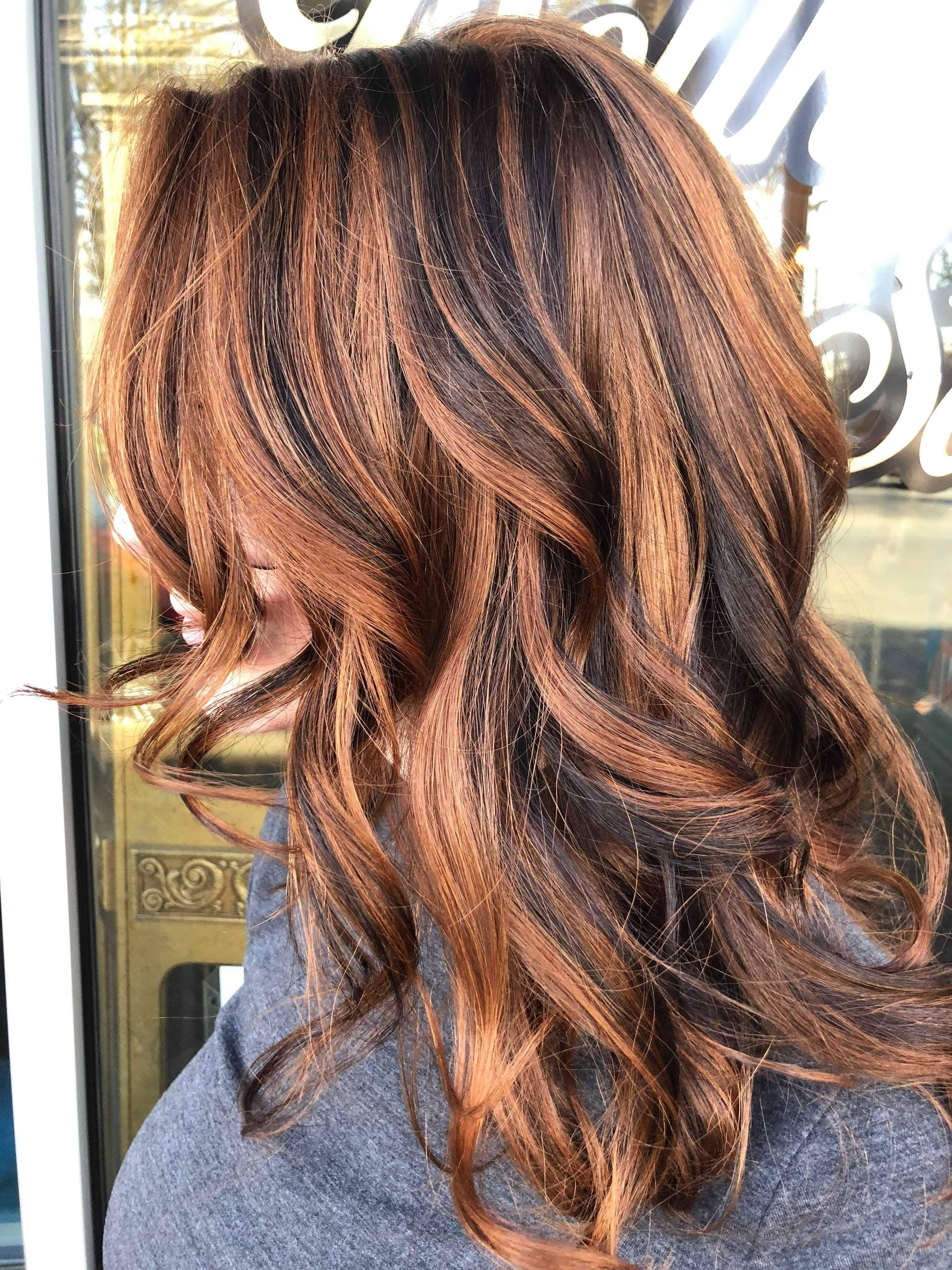 Natural Redhead With Dark Brown Lowlight Balayage Natural Red Hair Low Lights Hair Balayage Hair