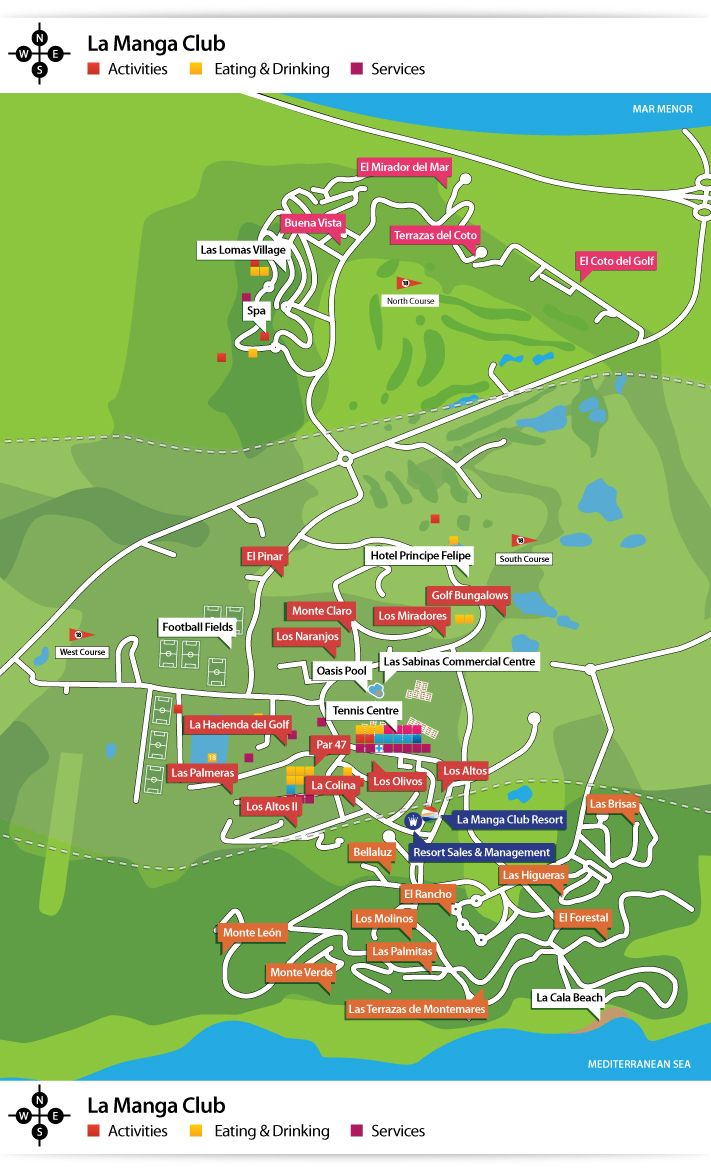 Full detailed information map of all the communities and facilities