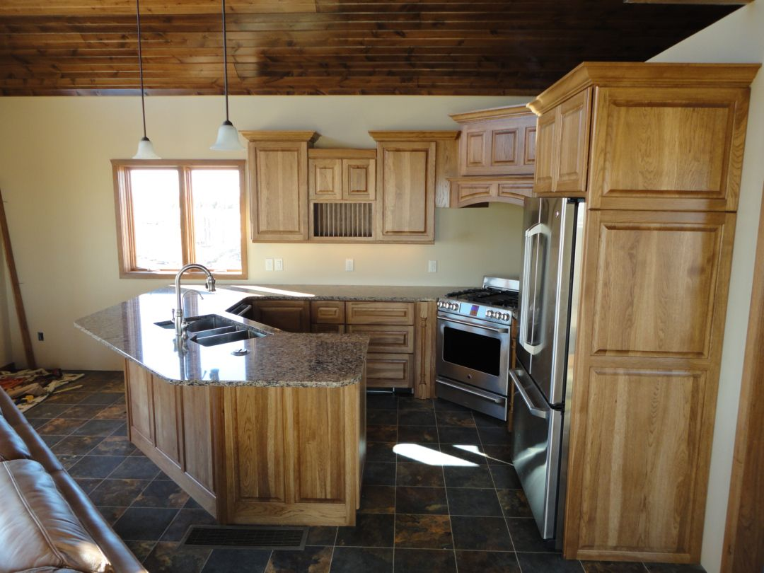 cabinet color (hickory wood) and floor color | No place like home ...