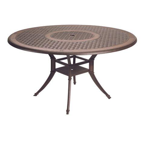 "Zoomed: Garden Treasures Herrington 54"" Cast Aluminum Round Patio Dining Table $530"