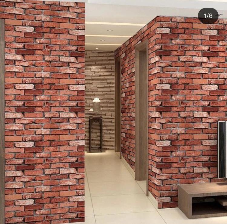 Chuvie Decor Wallpapers Wall Murals 3d Panels Online In Nigeria In 2020 Brick Wall Paneling Brick Wallpaper Faux Brick Walls