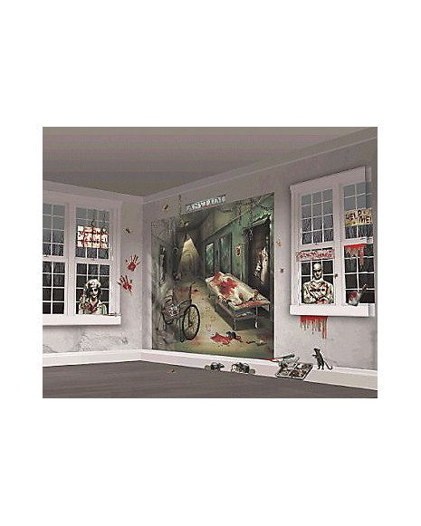 Asylum Wall Kit - Decorations Asylum - halloween scene setters decorations