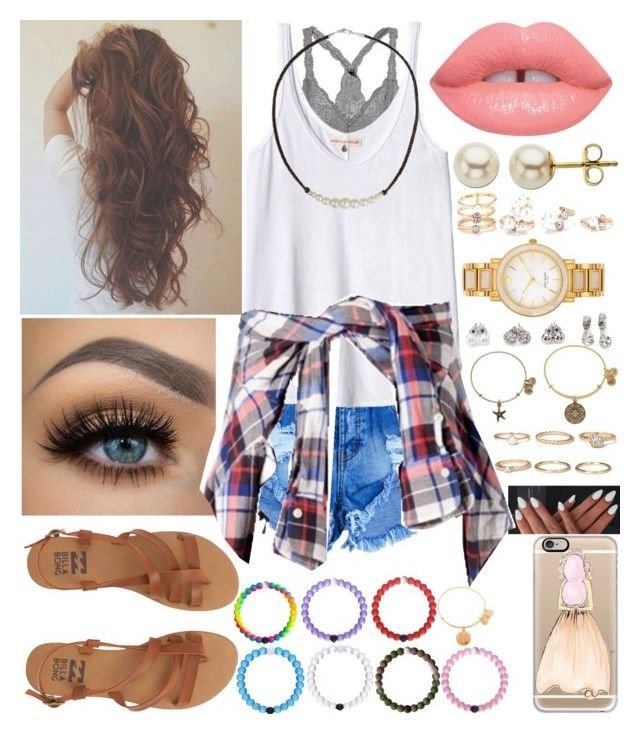 """""""Baby, you're the best part of my day"""" by xo-arissa-xo ❤ liked on Polyvore featuring Rebecca Taylor, Lime Crime, Billabong, Casetify, NOVICA, Lord & Taylor, Forever 21, Kate Spade, Everest and Alex and Ani"""