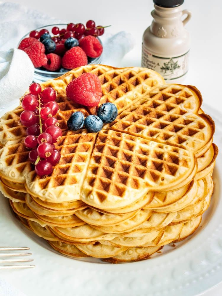 This is the Best and Easiest Waffle Recipe, perfect for a