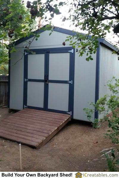 12x12 Backyard shed with ramp installed at home built shed doors by – Home Built Shed Plans