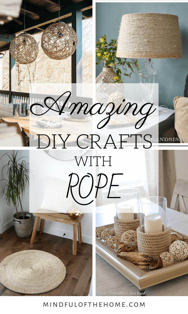 Looking for some inspiration for some DIY rope crafts? Rope projects are great when you're on a budget since you can get rope at the dollar store. These ideas are perfect for rustic nautical and coastal decor that you'll be so excited to get started! #diy #rope  #style #shopping #styles #outfit #pretty #girl #girls #beauty #beautiful #me #cute #stylish #photooftheday #swag #dress #shoes #diy #design #fashion #homedecor