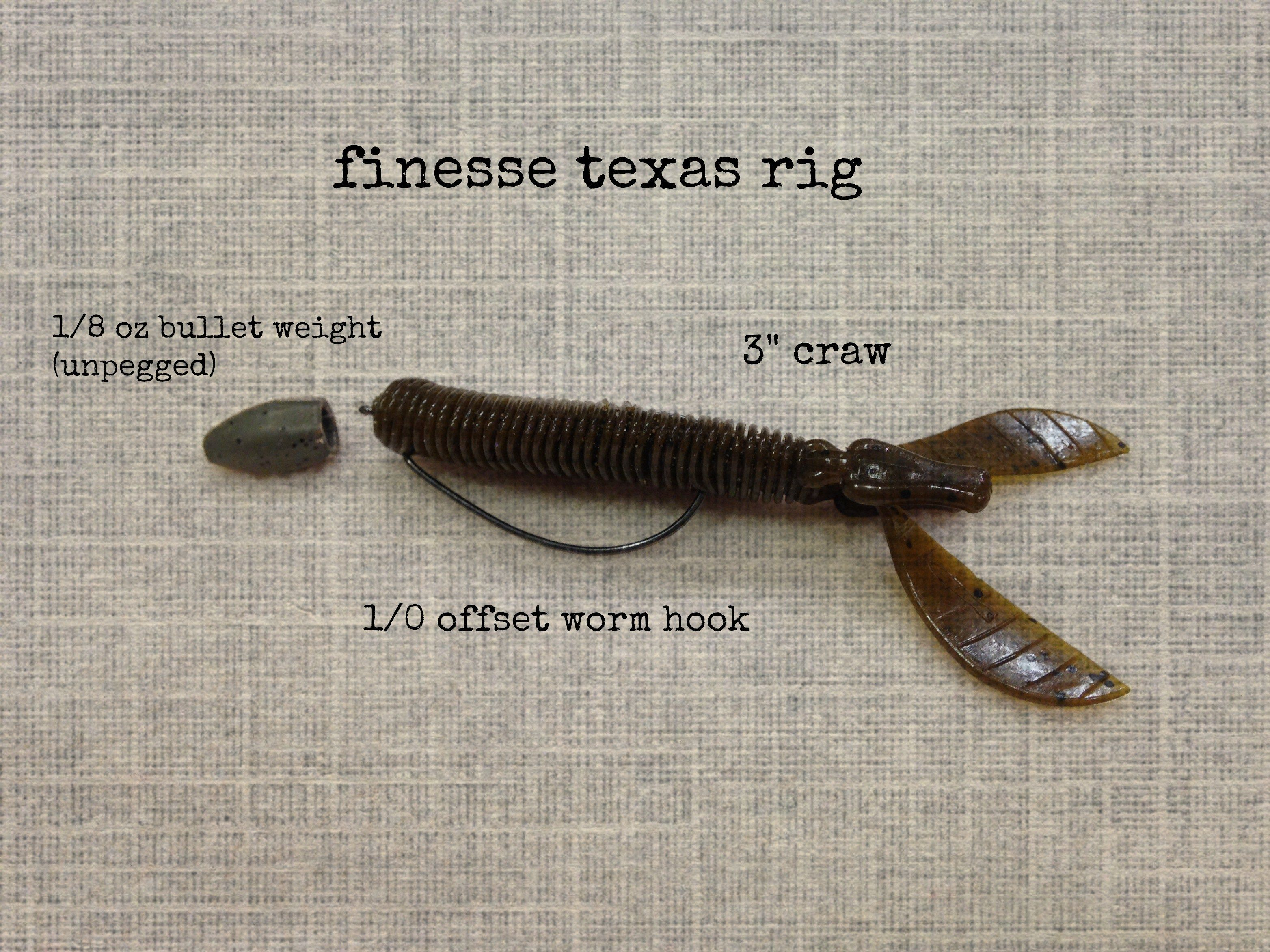 This finesse texas rig set up for fishing is amazing at for Texas rig bass fishing
