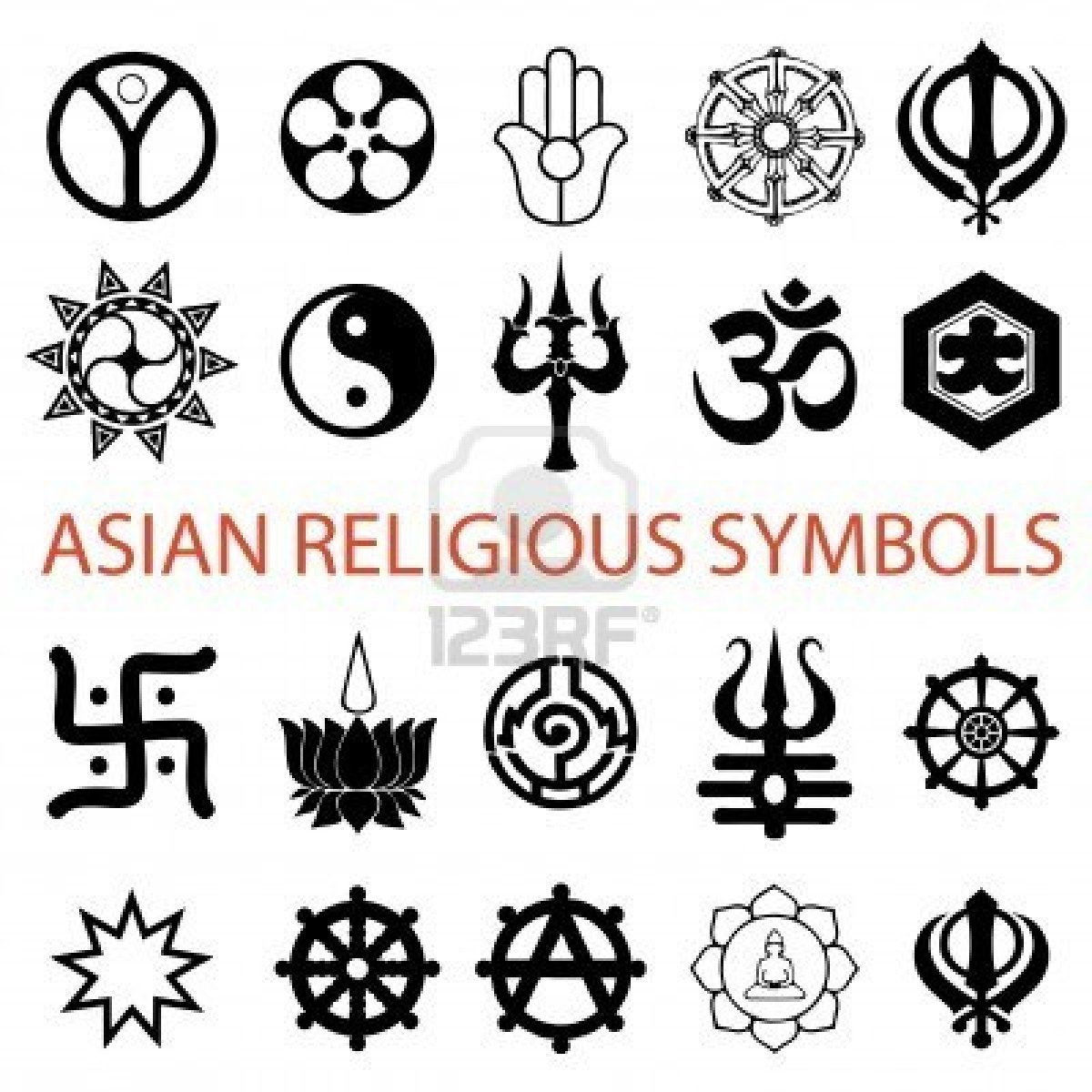 Various Religious Symbols Royalty Free Cliparts Vectors