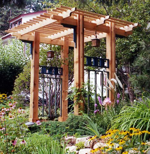 Arbor Over Gate Ideas: Beautiful Example Of A Craftsmen Style Entrance Arbour