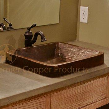 Premier Copper Products Skirted Metal Rectangular Vessel Bathroom