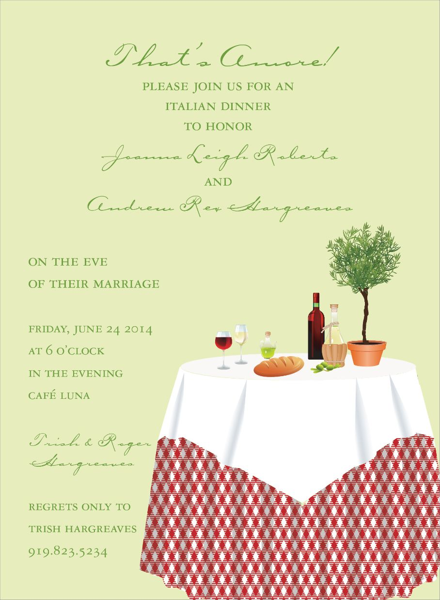That S Amore Invitations Rehearsal Dinners Rehearsal Dinner