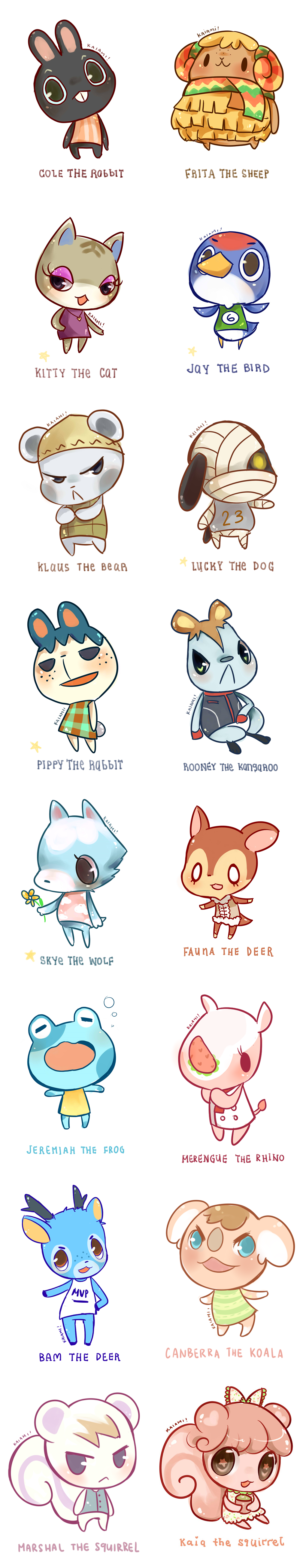 So Cute I Have Canberra And Skye At My Town Uvu Anime Animals