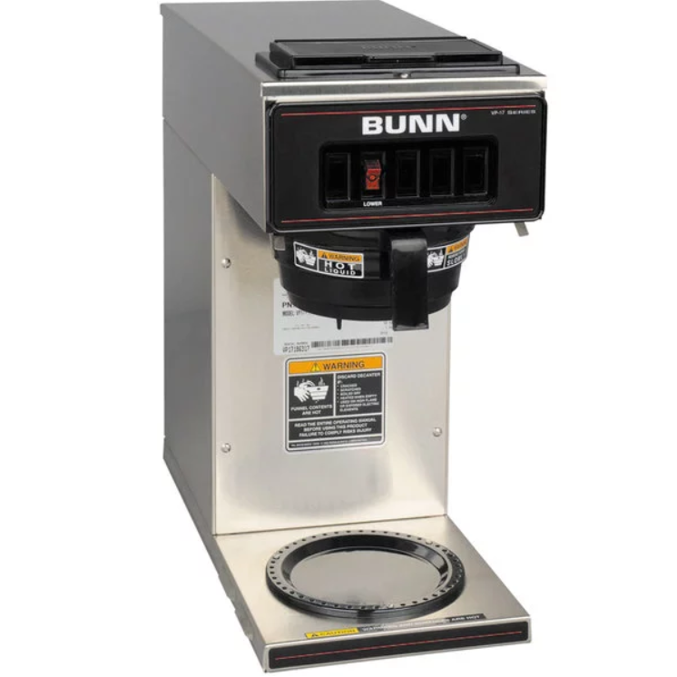 Bunn 13300 0001 Vp17 1 12 Cup Pourover Coffee Brewer With 1 Warmer 120v Coffee Brewer Pour Over Coffee Coffee