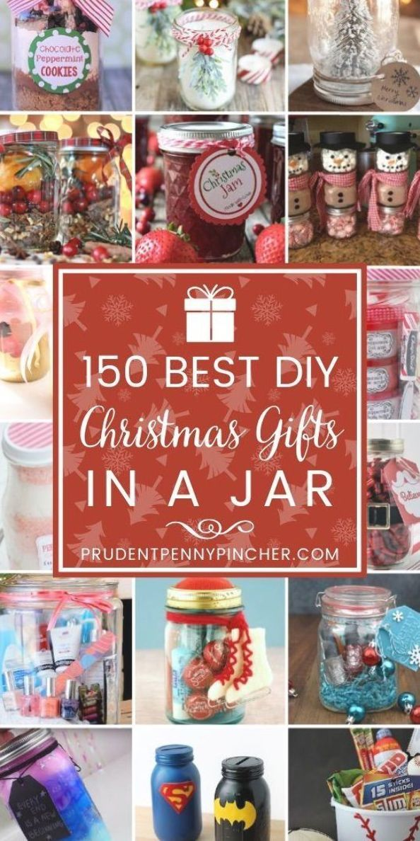 150 Best DIY Christmas Gifts in a Jar #Christmas #ChristmasGifts #GiftBaskets #ChristmasGiftIdeas #GiftBasketIdeas