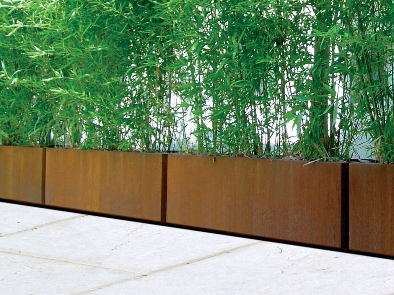 Designatgartenhaus De floreira de corten bambù by metalco design metalco department