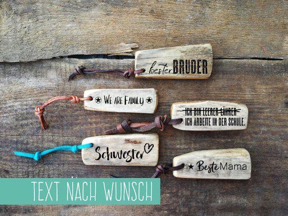 Bruderherz Schwesterherz Geschenk Bruder Schwester Schlüsselanhänger Holz Familie Freunde Last Minute Geschenk Gravur