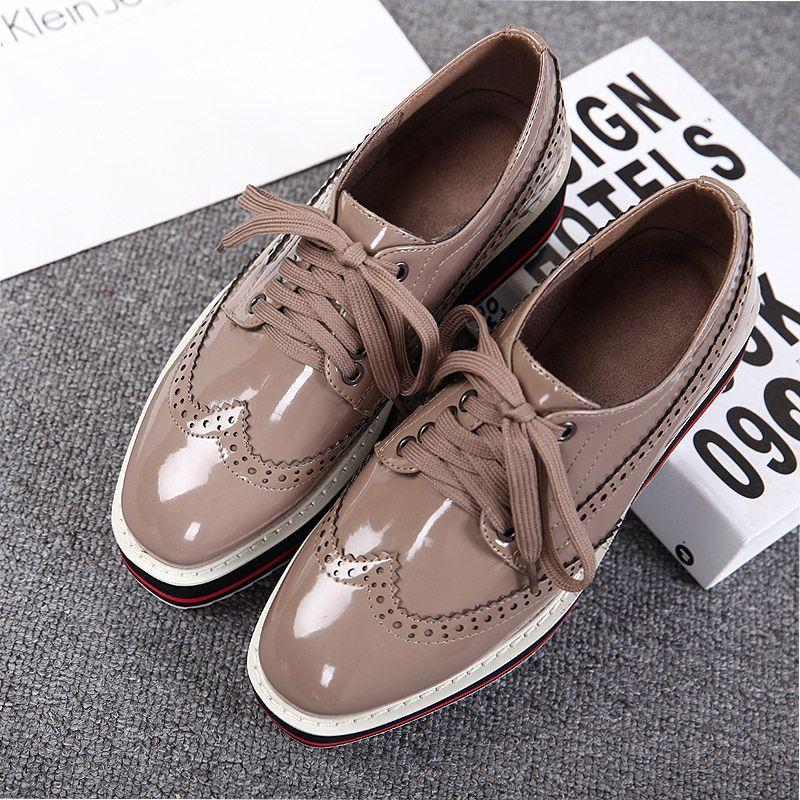 hot sales ee1cc f2620 Zapatos Tipo Oxford Mujer, Zapatos Oxford, Charol, Zapatos Lindos,  Cordones, Plataformas