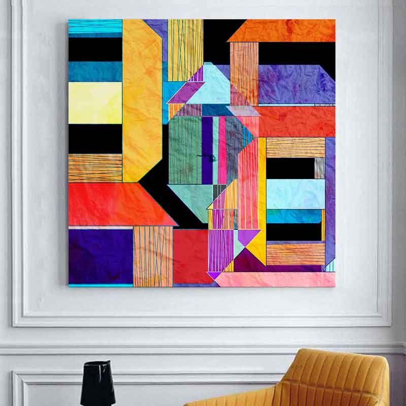 Aliexpress Acheter Decoracion Livraison Gratuite Géométrique - peindre un mur en bois