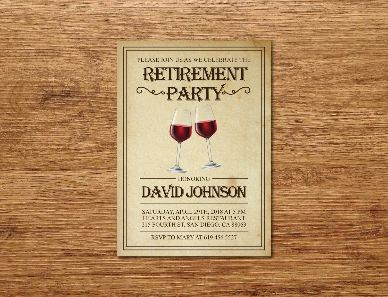 Shhh It S A Surprise Retirement Invitation Printable Rustic