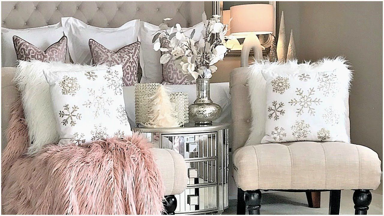 Best New Luxury Master Bedroom Blush Pink Christmas Tour 400 x 300
