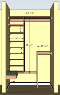 Free Woodworking Plans For A Deep Coat Closet Includes