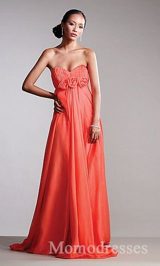 Embellished Red Sweetheart A-Line Long Sleeveless Prom Dress Sale momodresses25934