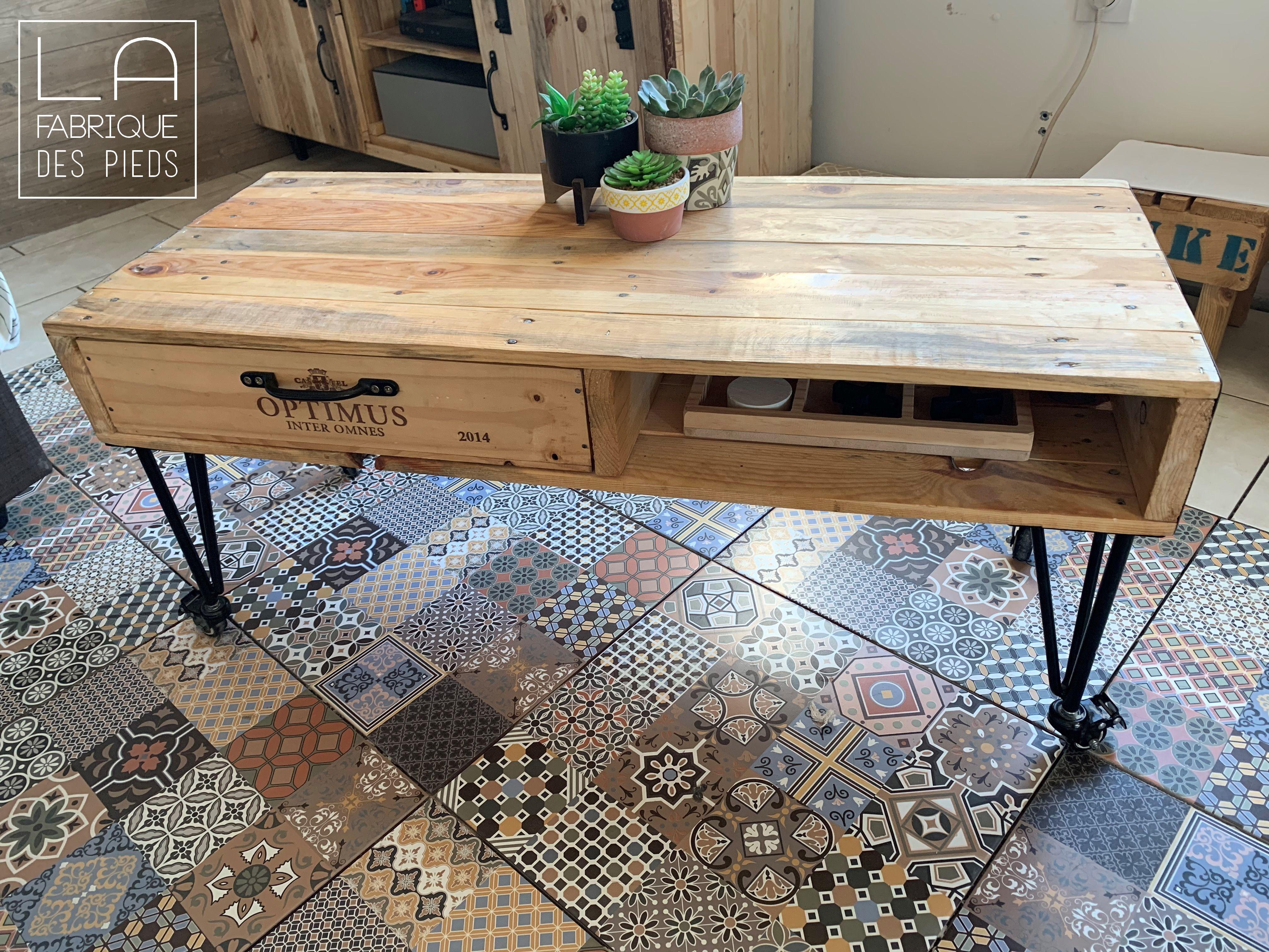 Pied De Table A Roulette 30 Cm La Fabrique Des Pieds En 2020 Table Basse Plans De Meubles Style Table Basse
