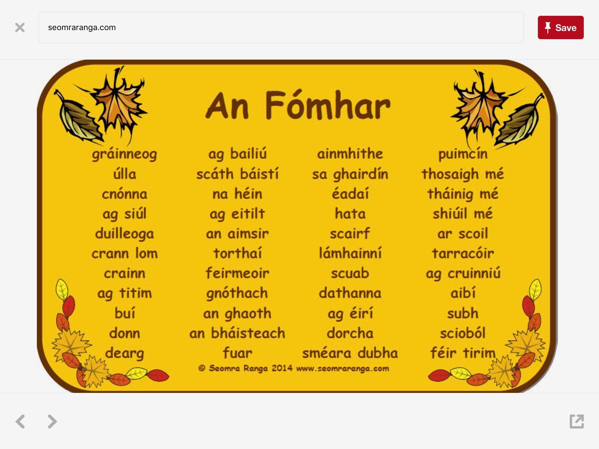 Pin By Helena Mcclafferty On Irish Language With Images