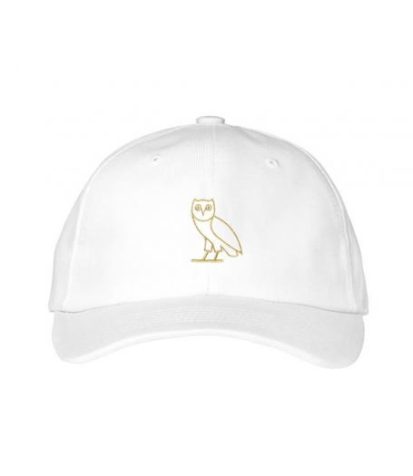 e061dd7f4e7 OVO Owl Dad Cap Strapback Hat (White)  dad cap  OVO  headwear  fashion   streetwear