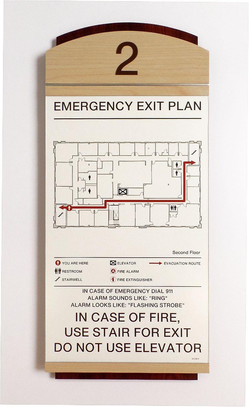 Fusion Evacuation Sign W Insert Signage Wayfinding Map Signage Wayfinding Signage Design Signage Design
