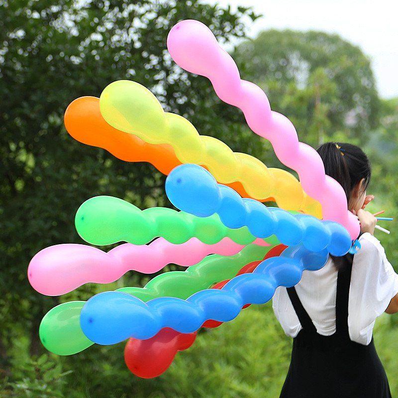 10 Giant Huge Twist Long Spiral Latex Balloons Wedding Kids Birthday Party Decor