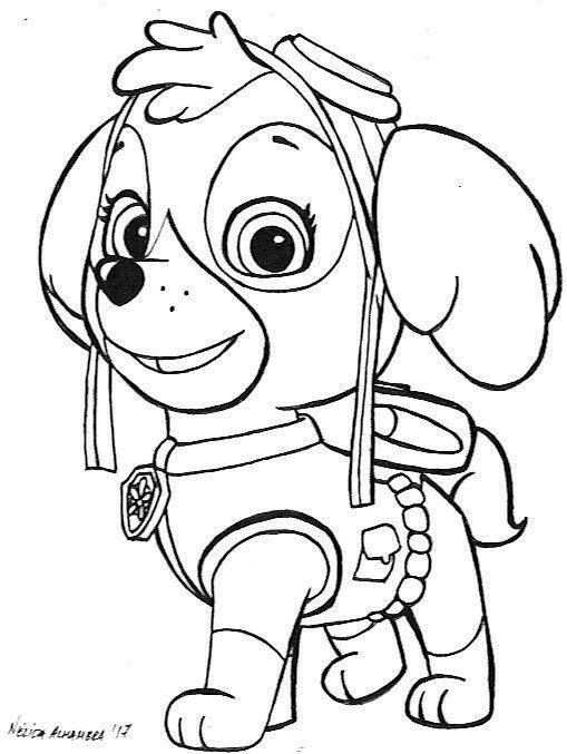Skye Patrulla Canina Tinta A5 Papel Canson Paw Patrol Para Colorear Patrulla Canina Para Pintar Dibujos De Paw Patrol