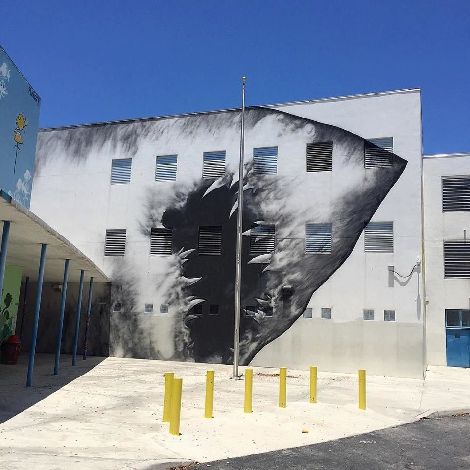 Shark Toof for RAW project in Wynwood, Miami, USA, 2016